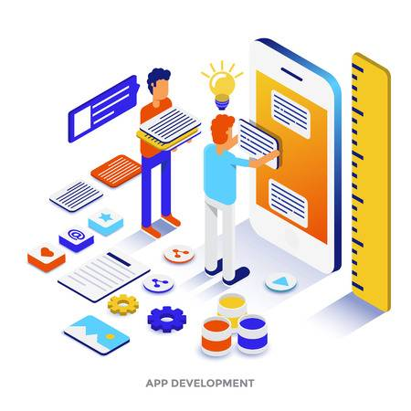 101300648-modern-flat-design-isometric-illustration-of-app-development-can-be-used-for-website-and-mobile-webs